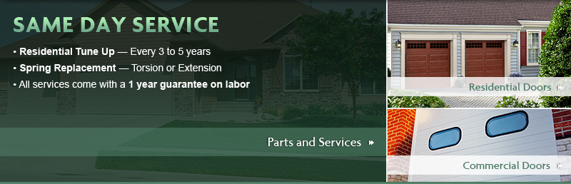 Garage Door Parts and Same Day Service